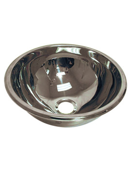 Stainless Steel 360mm Inset Handrinse Basin - PS8503SS