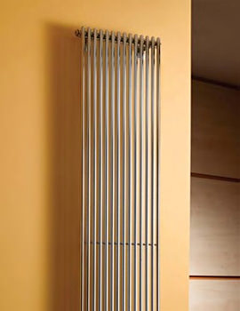 Rimini Straight Single Tube-On-Tube Radiator White 400 x 1800mm
