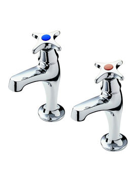 Capri Crosshead High Neck Pair of Kitchen Tap - 343