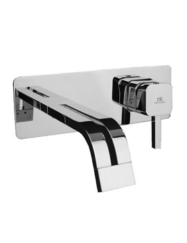 Noken Neox Wall Mounted Basin Mixer Tap With 161mm Spout