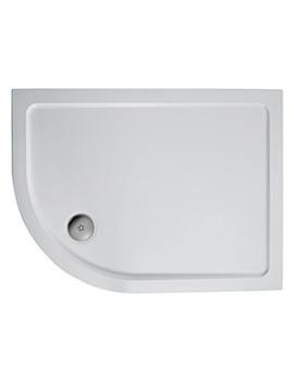 Simplicity 900 x 800mm Offset Quadrant Tray Left Hand