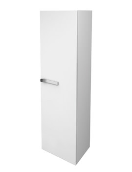 Strada Right Hand 400mm Tall Storage Unit Gloss White