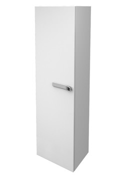 Strada Left Hand 400mm Tall Storage Unit Gloss White