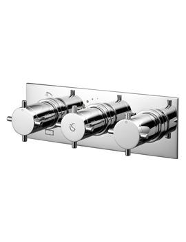 Oposta Thermostatic 3 Control Bath Shower Mixer Valve