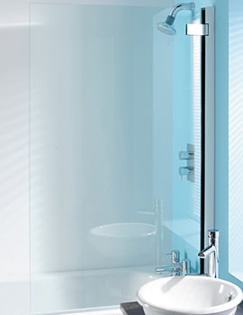 Classic 8mm Clear Glass Hinged Bath Screen 860 x 1385mm
