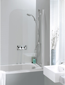 Supreme Deluxe 700mm Bath Screen With Silver Hinges
