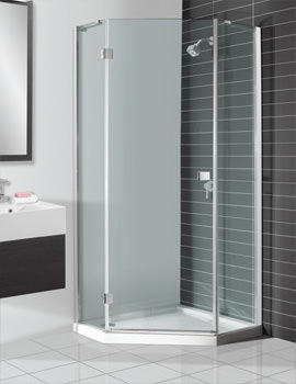 Design Semi Frame-less Pentagon Shower Enclosure 900mm