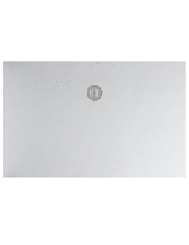 White Textured Slate Effect Shower Tray 1600 x 800mm
