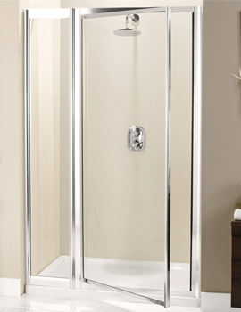 Supreme Pivot Door With Inline Panel 1000mm - 7135-7114