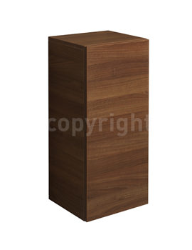 Bauhaus Elite Walnut Half Tower Storage Unit 350 x 800mm - EL3580FWT