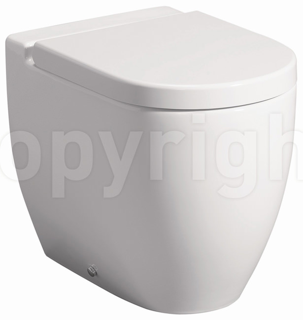 Large Image of Bauhaus Stream II Back To Wall WC Pan 510mm And Soft Close Seat