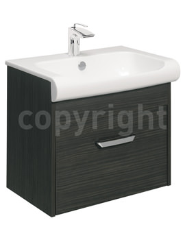 Essence 600mm Wall Hung Anthracite Vanity Unit And Basin