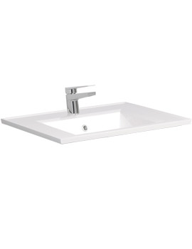 Related Bauhaus Linea Square 600mm 1 Tap Hole Basin With Overflow - LN0611SRW