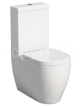 Bauhaus Stream II Close Coupled WC Pan 630mm With Cistern And Seat