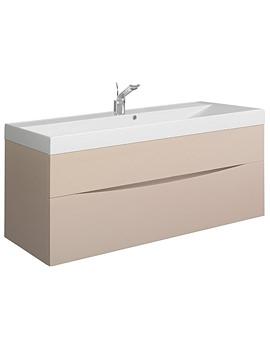 Bauhaus Glide II 1000mm Wall Hung Basin Unit Calico Gloss