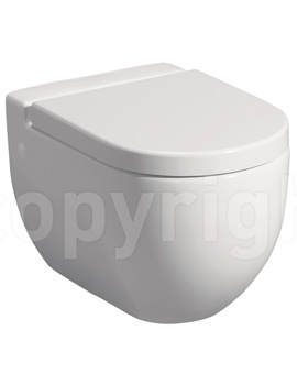 Bauhaus Stream II Wall Hung WC Pan 510mm And Soft Close Seat