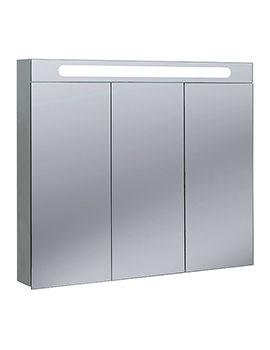 Bauhaus Aluminium Electric 900 x 800mm 3 Doors Mirrored Cabinet