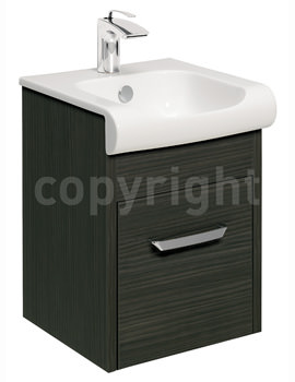 Essence 400mm Wall Hung Anthracite Vanity Unit And Basin