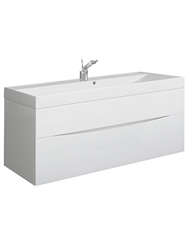 Glide II 1000mm Wall Hung Basin Unit White Gloss