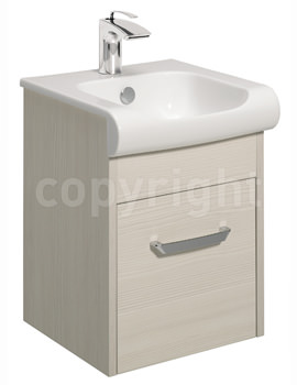 Essence 400mm Wall Hung Glacier Vanity Unit And Basin