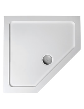 Simplicity Low Profile 900mm Pentagon Flat Top Shower Tray