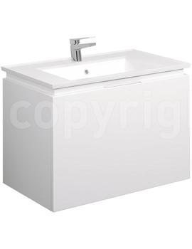 Related Bauhaus Linea 750mm Single Drawer Basin Unit White Gloss