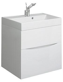 Glide II 500mm Wall Hung Basin Unit White Gloss
