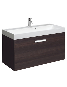 Design Plus 1000mm Single Drawer Wall Hung Basin Unit Panga