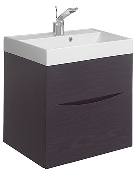 Glide II 500mm Wall Hung Basin Unit Wenge