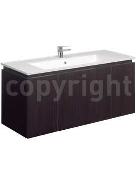 Related Bauhaus Linea 1200mm Single Drawer-2 Door Basin Unit Blackwood
