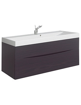 Glide II 1000mm Wall Hung Basin Unit Wenge