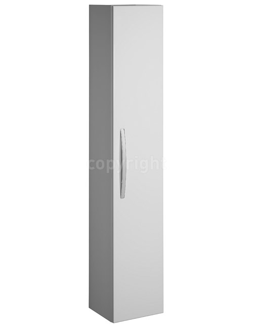 Large Image of Bauhaus Stream Tower Storage Unit 300 x 1600mm White Gloss