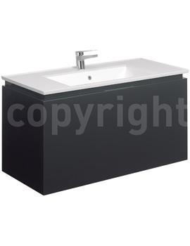 Bauhaus Linea 1000mm Single Drawer Basin Unit Graphite - LN1000DGR