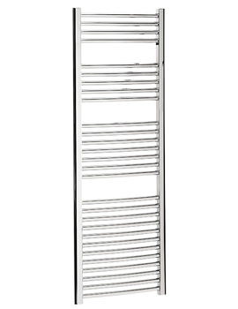 Image of Bauhaus Stream 500 x 1430mm Curved Towel Warmer Chrome - ST50X143C