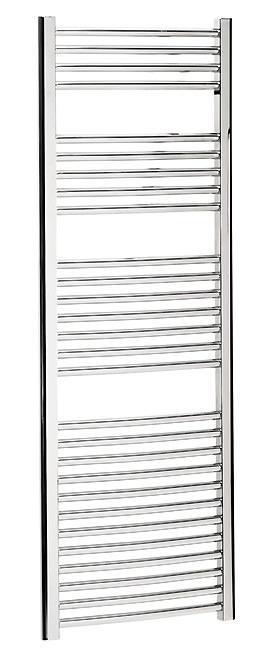 Large Image of Bauhaus Stream 500 x 1430mm Curved Towel Warmer Chrome - ST50X143C