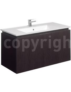 Bauhaus Linea 1000mm Single Drawer Basin Unit Blackwood