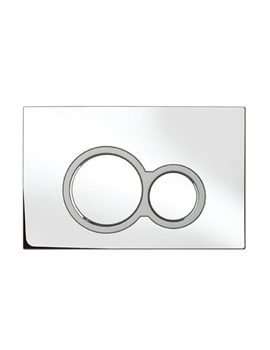 Bauhaus Central Chrome Dual Flush Plate - CEFLUSHC