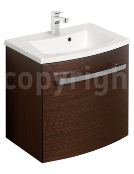 Image of Bauhaus Stream Wenge Wall Hung 1 Door Basin Unit 440mm - ST4400WG