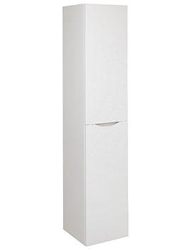 Glide II Wall Hung Tower Unit 1600mm Height White Gloss