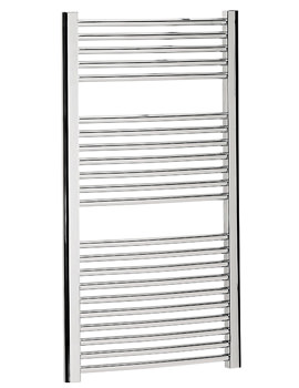 Bauhaus Stream 600 x 1110mm Curved Towel Warmer Chrome - ST60X111C
