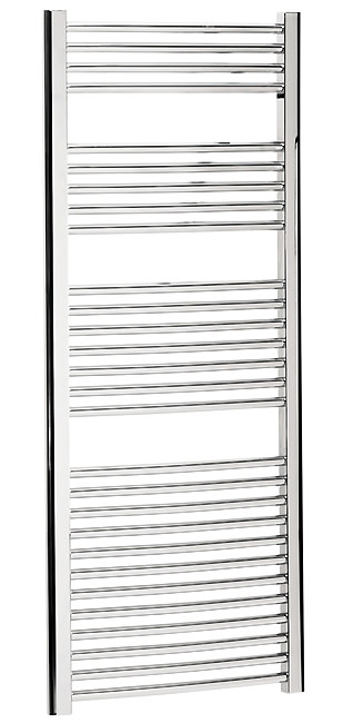 Large Image of Bauhaus Stream 600 x 1430mm Curved Towel Warmer Chrome - ST60X143C