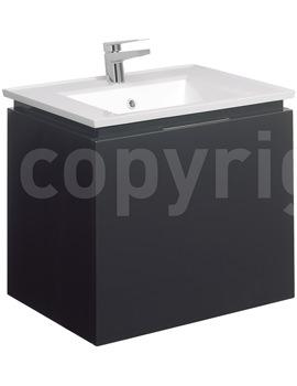 Related Bauhaus Linea 600mm Single Drawer Basin Unit Graphite - LN6000DGR