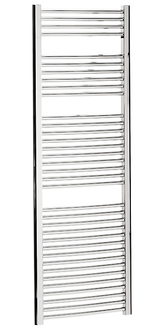 Large Image of Bauhaus Stream 600 x 1700mm Curved Towel Warmer Chrome - ST60X170C