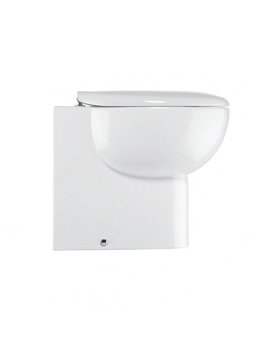Bauhaus Wisp Back To Wall WC 365 x 530mm White