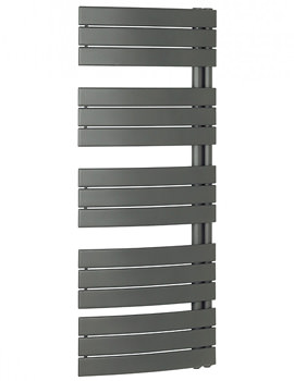 Bauhaus Essence 550 x 1380mm Curved Flat Panel Towel Rail Anthracite