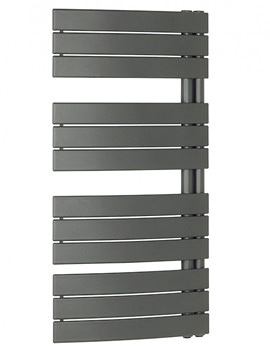 Essence 550 x 1080mm Curved Flat Panel Towel Rail Anthracite