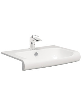 Related Bauhaus Essence 600mm Semi Inset Basin With Overflow - ES0002SCW