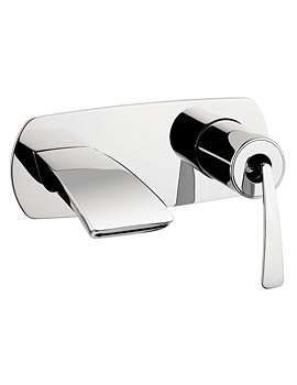 Image of Crosswater Essence Wall Mounted 2 Hole Basin Mixer Tap - ES121WNC