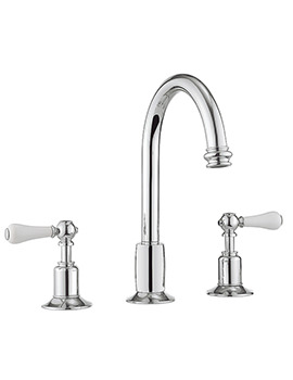 Related Crosswater Belgravia Lever Chrome 3 Hole Basin Mixer Tap With Waste