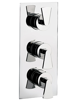 Image of Crosswater Essence Thermostatic Shower Valve With 3 Way Diverter Portrait